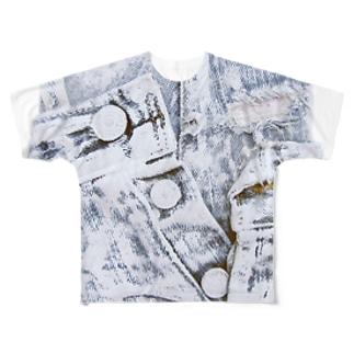 履き古したジーンズ Full graphic T-shirts