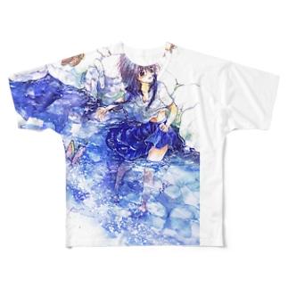 天の川に気づく フルグラフィックTシャツ