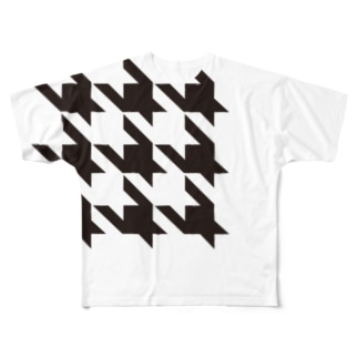 Houndtooth 2 Full graphic T-shirts