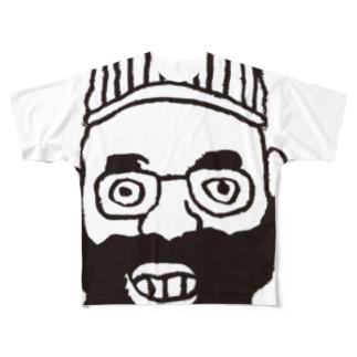 aw-face フルグラフィックTシャツ