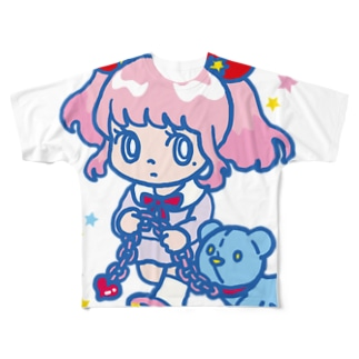 ONNANOKO 【普】 フルグラフィックTシャツ