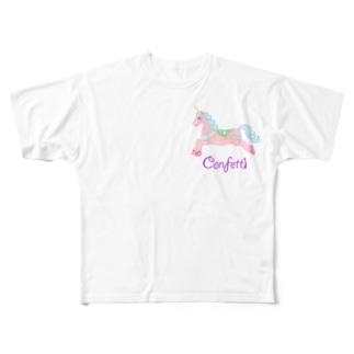 ユニコーン&YOU フルグラフィックTシャツ