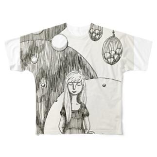水玉模様 Full graphic T-shirts