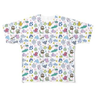 みんな生きてる! フルグラフィックTシャツ