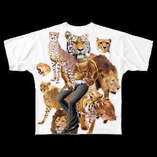 AC部の猛獣プリント フルグラフィックTシャツ