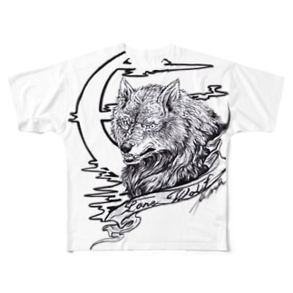 Lone Wolf Full graphic T-shirts