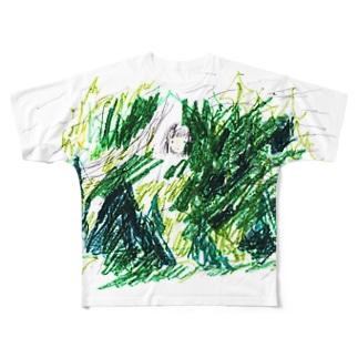 森 フルグラフィックTシャツ