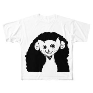 邪神(手は上げない) Full graphic T-shirts