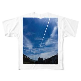 ひこうき雲 Full graphic T-shirts