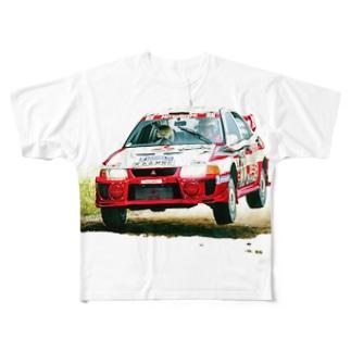 1998年三菱ランサーエボリューションⅤ GroupA Rally Finland Full graphic T-shirts