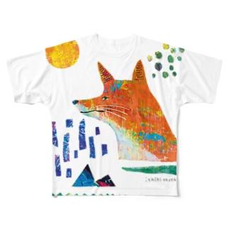 どんどこキツネ Full graphic T-shirts