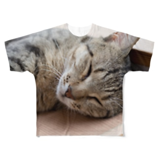 猫は可愛い Full graphic T-shirts