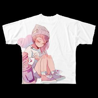 macoziのチェリッシュ Full graphic T-shirts