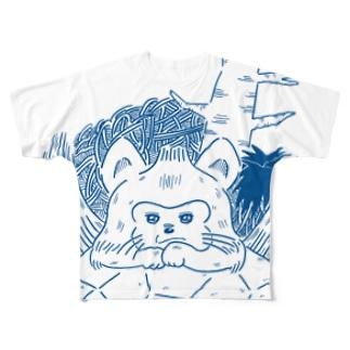 あおむろひろゆき×ハイエナズクラブ(その2) Full graphic T-shirts