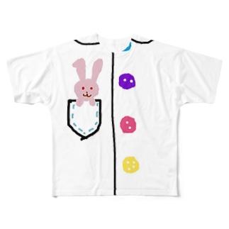 赤目兎 Full graphic T-shirts