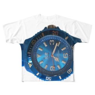 時計と一体化Tシャツ Full graphic T-shirts