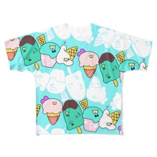 ペンギンアイス(空) Full graphic T-shirts