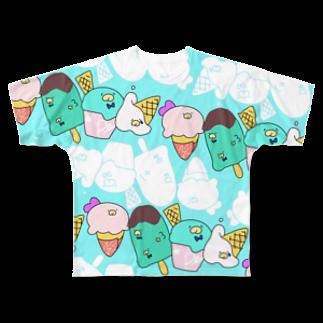 ペンギンアイス(空) フルグラフィックTシャツ