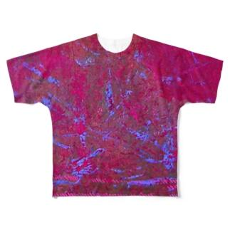 アブストラクト(両面) Full graphic T-shirts