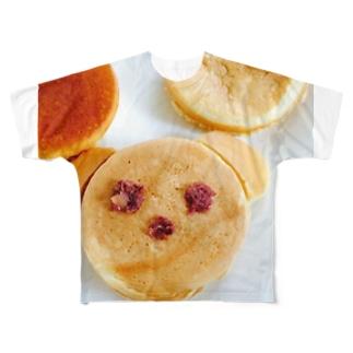 くまちゃん今川焼♡ Full graphic T-shirts
