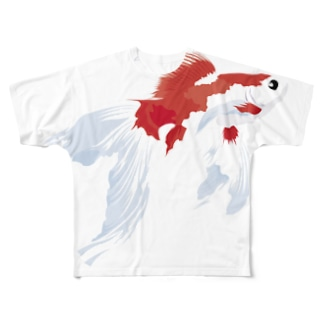 金魚すくい2016夏(和柄) フルグラフィックTシャツ