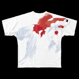 hiro-slabの金魚すくい2016夏(和柄) フルグラフィックTシャツ