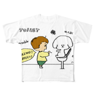 egu shopのeducate Full graphic T-shirts