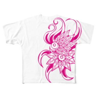 Soulmateピンク Full graphic T-shirts