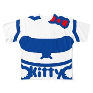 パ紋No.2745 kitty Full graphic T-shirts