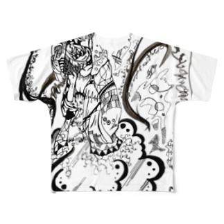 現代雷神 フルグラフィックTシャツ