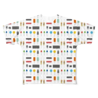 電子パーツみたいなやつ フルグラフィックTシャツ