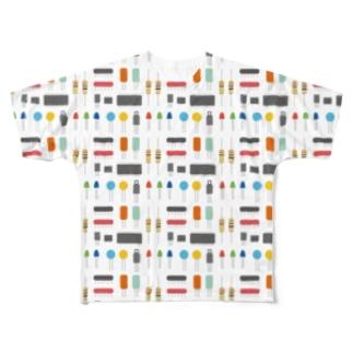 電子パーツみたいなやつ Full graphic T-shirts