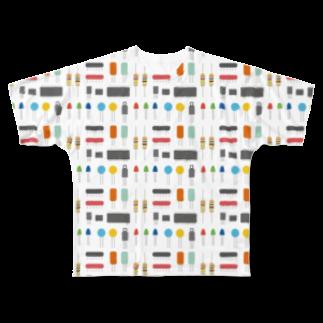 mansooonの電子パーツみたいなやつ Full graphic T-shirts