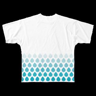 anklelabの涙滴ウロコ フルグラフィックTシャツ