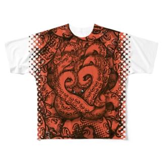 オクトパス Full graphic T-shirts