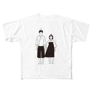 おりひめとひこぼし Full graphic T-shirts