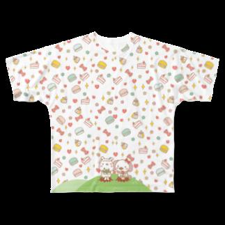 モリヤマ・サルのスイート100% Full graphic T-shirts