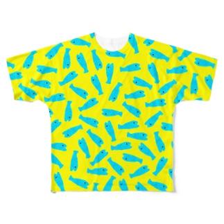 お魚入水(空) Full graphic T-shirts