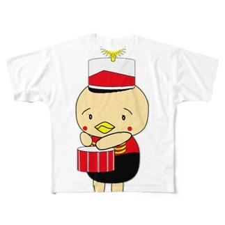 オンパ ドラム フルグラフィックTシャツ