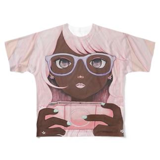 Gamergirl 3 P Full graphic T-shirts