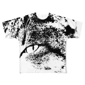 見つめる フルグラフィックTシャツ