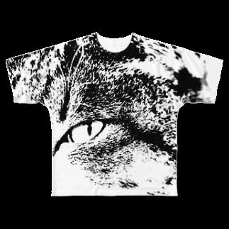 yoruiroの見つめるフルグラフィックTシャツ
