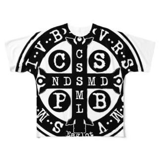 聖ベネディクトのメダイ Full graphic T-shirts