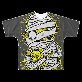 HUGオフォシャルショップのMummy with Stinky Teddy Full graphic T-shirts
