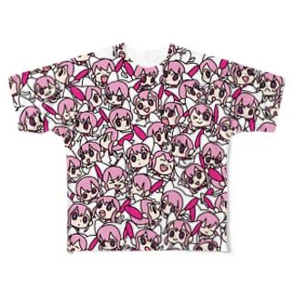 Xennaちびちび フルグラフィックTシャツ