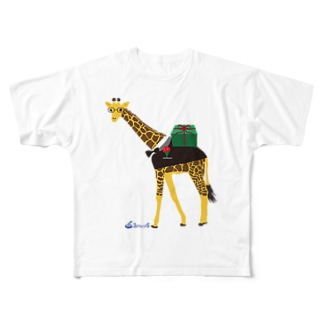 メガネキリン君 Full graphic T-shirts