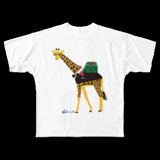 3pondSのメガネキリン君 Full graphic T-shirts