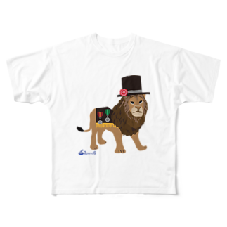 3pondSのライオンくん Full graphic T-shirts
