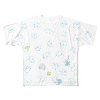とりもちわらわら Full graphic T-shirts