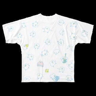mugny shopのとりもちわらわら Full graphic T-shirts